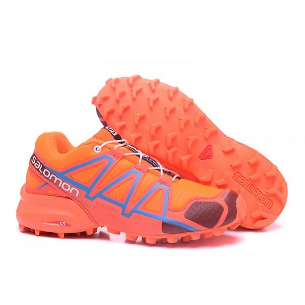 Salomon Speedcross 4 Trail Running In Orange Wine Shoes