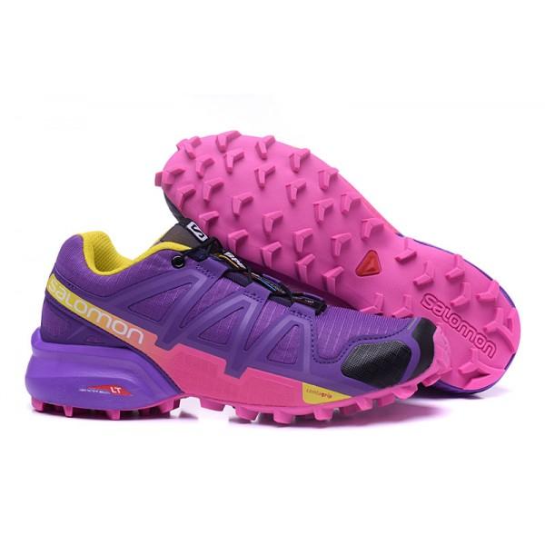 Salomon Speedcross 4 Trail Running In Purple Rose Red Shoes