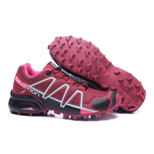Salomon Speedcross 4 Trail Running In Wine Black Shoes