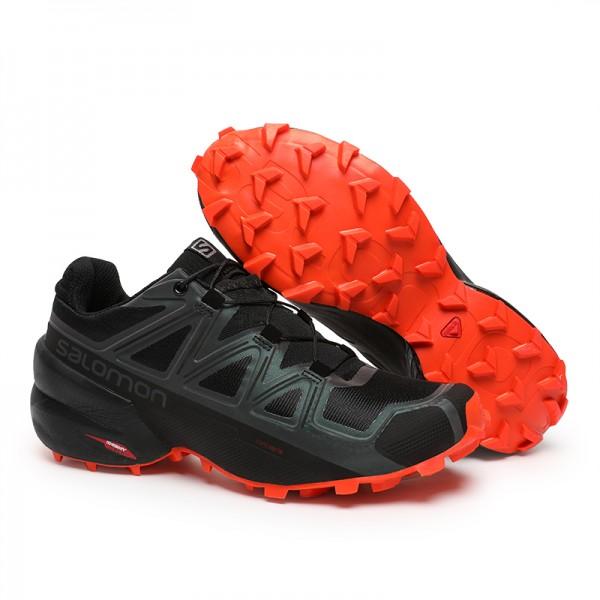 Salomon Speedcross 5 GTX Trail Running In Black Orange Shoes