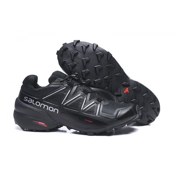 Salomon Speedcross 5 GTX Trail Running In Black Silver Shoes