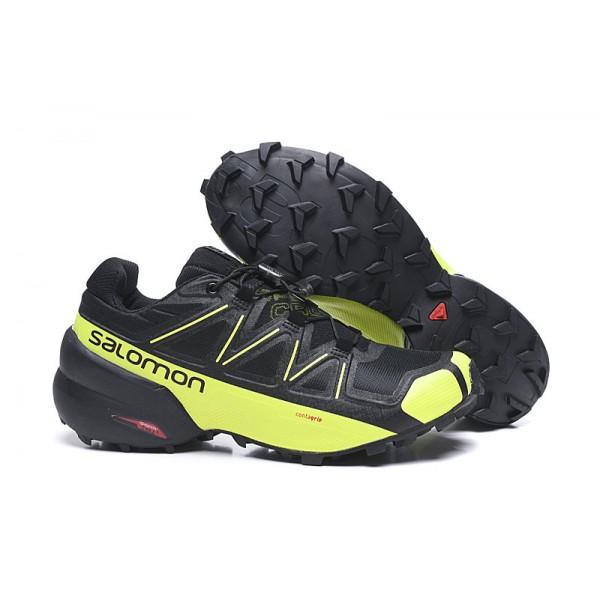 Salomon Speedcross 5 GTX Trail Running In Black Yellow Shoes
