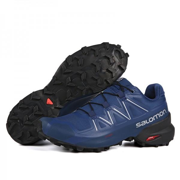 Salomon Speedcross 5 GTX Trail Running In Deep Blue Shoes