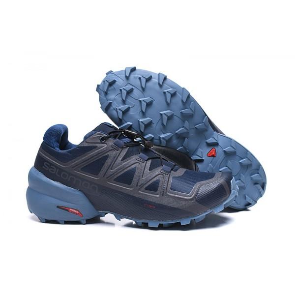 Salomon Speedcross 5 GTX Trail Running In Deep Blue Gray Shoes