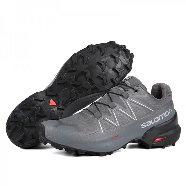 Salomon Speedcross 5 GTX Trail Running In Full Gray Shoes