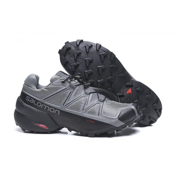 Salomon Speedcross 5 GTX Trail Running In Gray Black Shoes