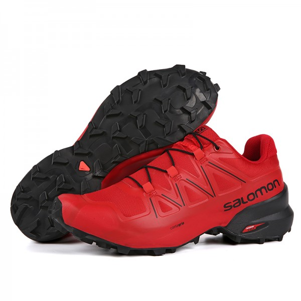 Salomon Speedcross 5 GTX Trail Running In Light Red Shoes