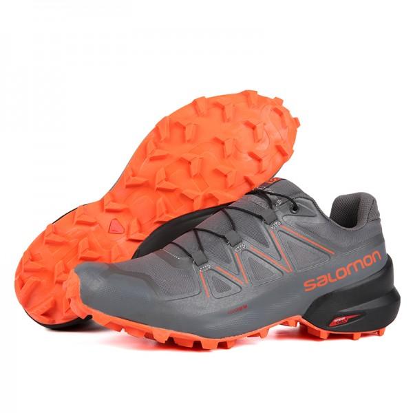 Salomon Speedcross 5 GTX Trail Running In Orange Gray Shoes