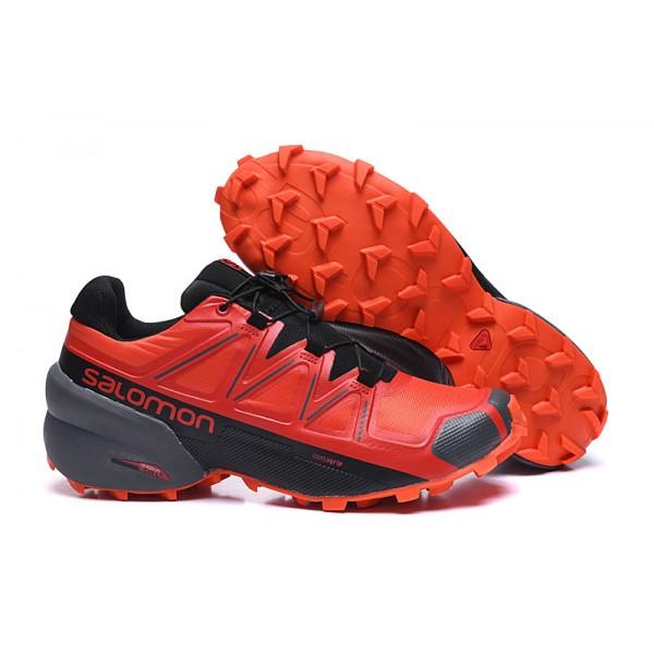 Salomon Speedcross 5 GTX Trail Running In Red Black Shoes