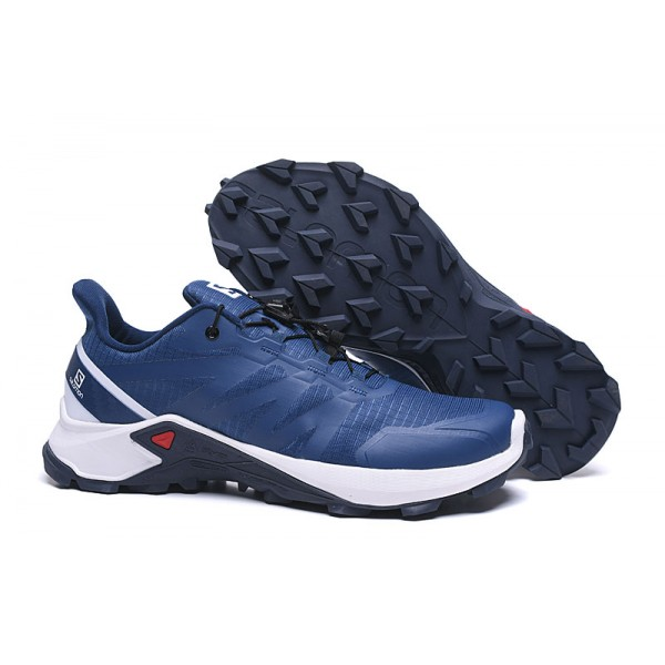 Salomon Speedcross GTX Trail Running In Blue White Shoes