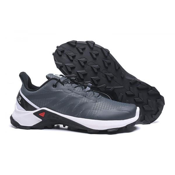 Salomon Speedcross GTX Trail Running In Gray White Shoes