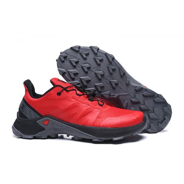 Salomon Speedcross GTX Trail Running In Red Black Shoes