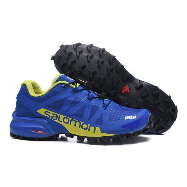 Salomon Speedcross Pro 2 Trail Running In Blue Yellow Shoes