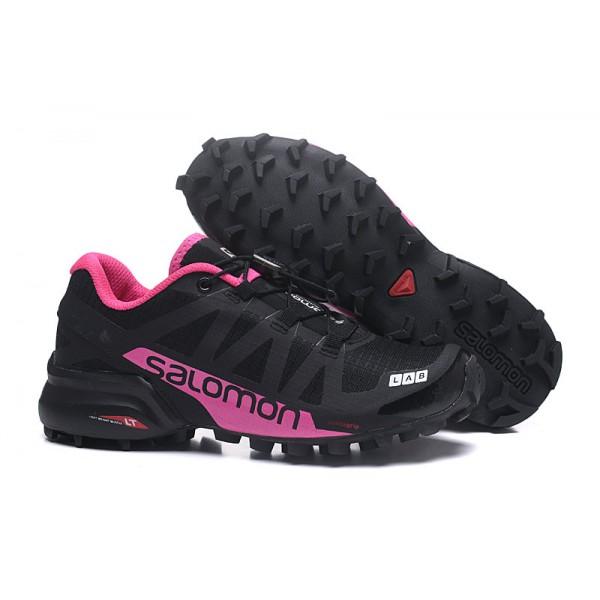 Salomon Speedcross Pro 2 Trail Running In Black Rose Red Shoes