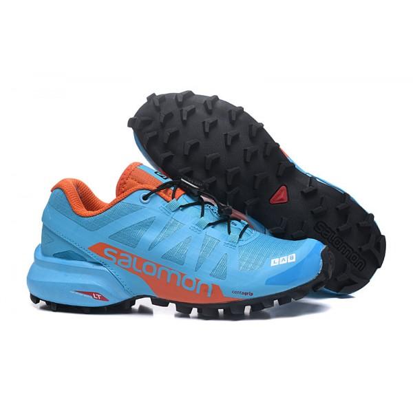 Salomon Speedcross Pro 2 Trail Running In Lack Blue Orange Shoes