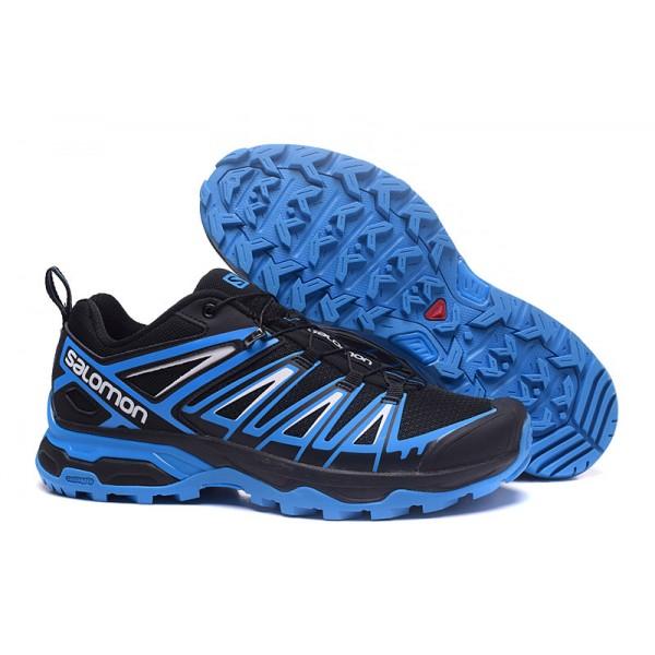 Salomon X ULTRA 3 GTX Waterproof In Black Blue Shoes