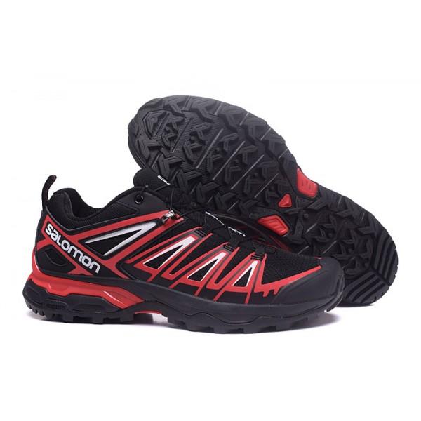 Salomon X ULTRA 3 GTX Waterproof In Black Red Shoes
