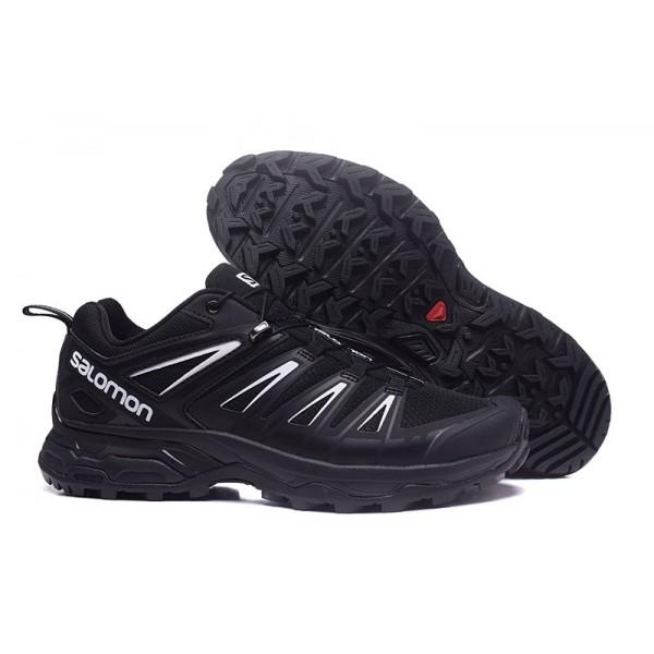 Salomon X ULTRA 3 GTX Waterproof In Black Silver Shoes