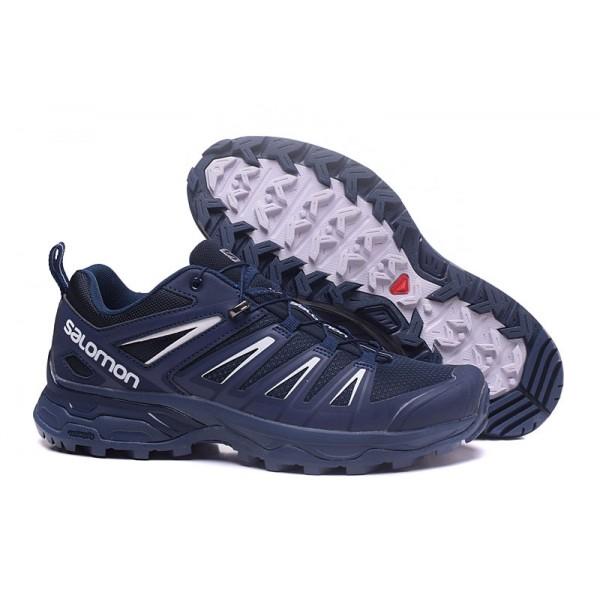 Salomon X ULTRA 3 GTX Waterproof In Blue White Shoes